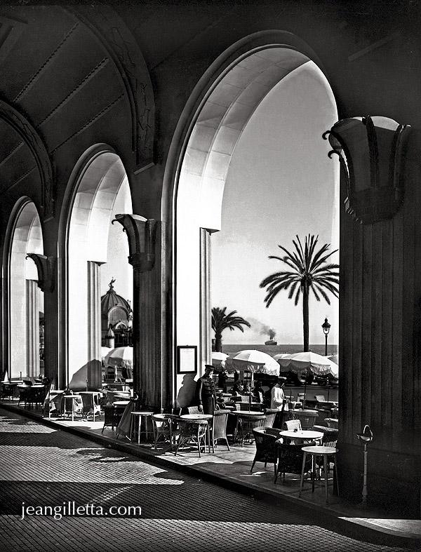 nice terrasse du palais de la m diterran e vers 1930 phototh que jean gilletta depuis 1880. Black Bedroom Furniture Sets. Home Design Ideas