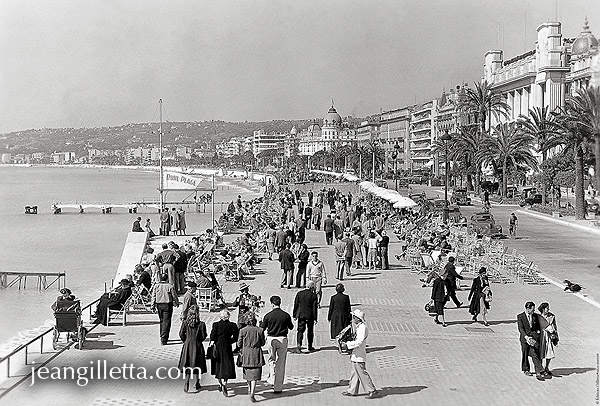 nice promenade des anglais 1950 phototh que jean gilletta depuis 1880. Black Bedroom Furniture Sets. Home Design Ideas